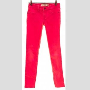 {Abercrombie & Fitch} Hot Pink Jeans sz 00R 24